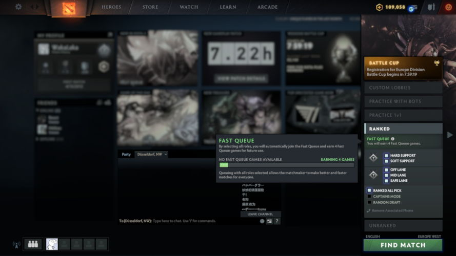 Thumbnail for post: Valve tackles ongoing Dota 2 matchmaking issues with Fast Queue